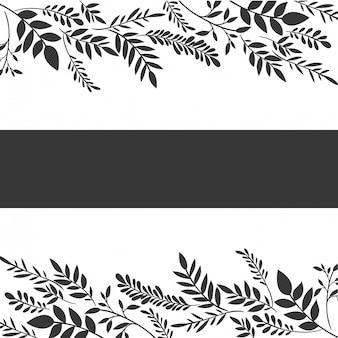 Cornice con icona di fiori e foglie