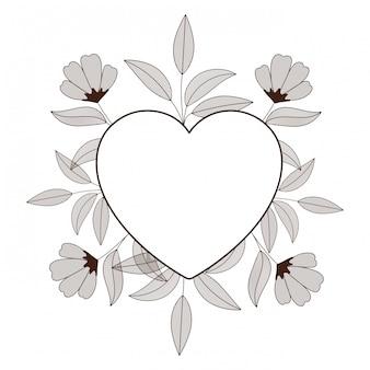 Cornice con icona isolata di fiori
