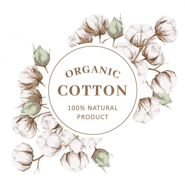 Cornice con rami di cotone