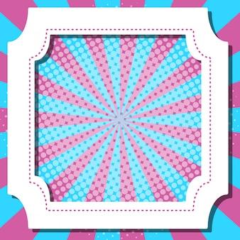 Cornice con strisce blu e rosa