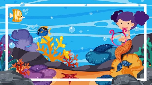 Cornice con tema subacqueo