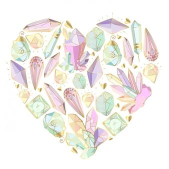 Cornice cuore vettoriale