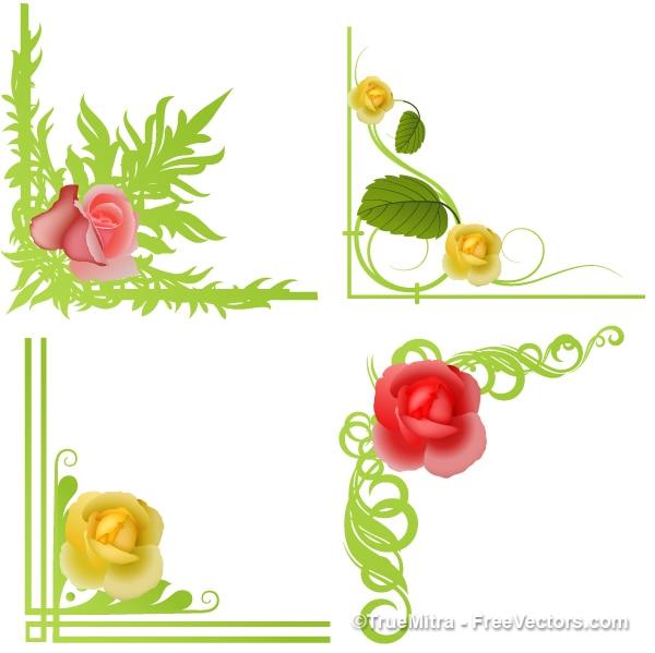 Cornice da collana fiori