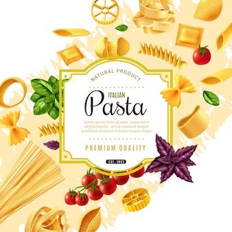 Cornice decorativa di pasta