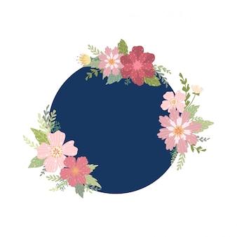 Cornice decorativa estiva. illustrazione.