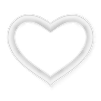 Cornice del cuore isolata su bianco.