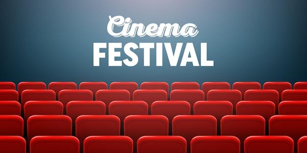 Cornice dello schermo del cinema e interno del teatro.