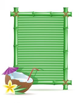 Cornice di bambù e cocco