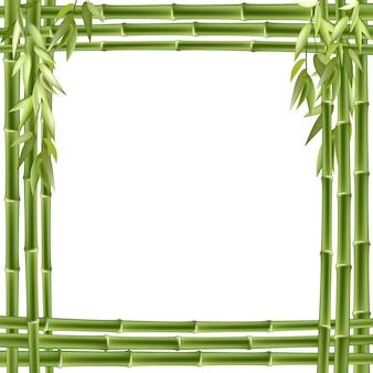 Cornice di bambù sfondo