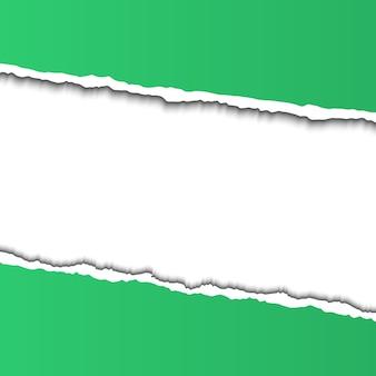 Cornice di carta strappata per il testo