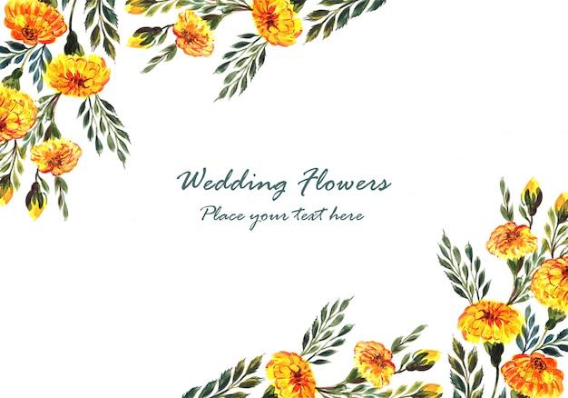 Cornice di fiori decorativi invito matrimonio bellissimo