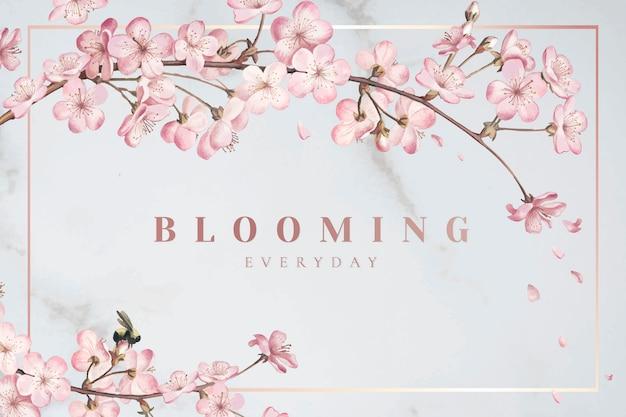Cornice di fiori di ciliegio