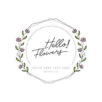 Cornice di fiori in fiore