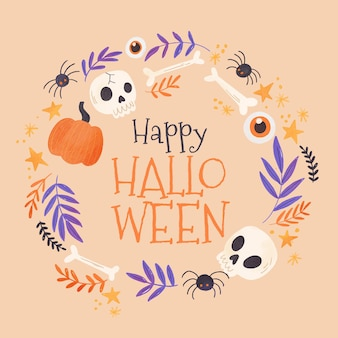 Cornice di halloween dell'acquerello
