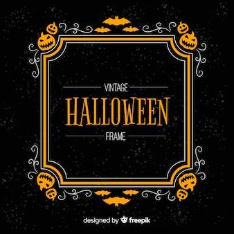 Cornice di halloween raccapricciante con stile vintage