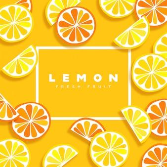 Cornice di limone fresco