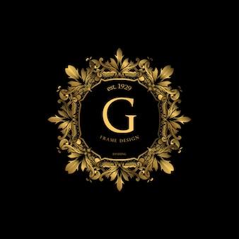 Cornice di lusso con colore dorato
