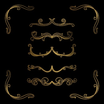 Cornice di lusso golden border