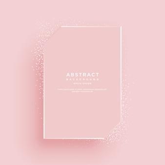 Cornice di lusso su sfondo rosa