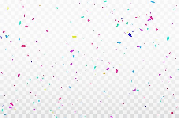 Cornice di nastri confetti celebrazione.