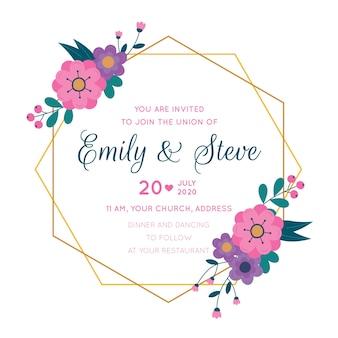 Cornice di nozze con fiori