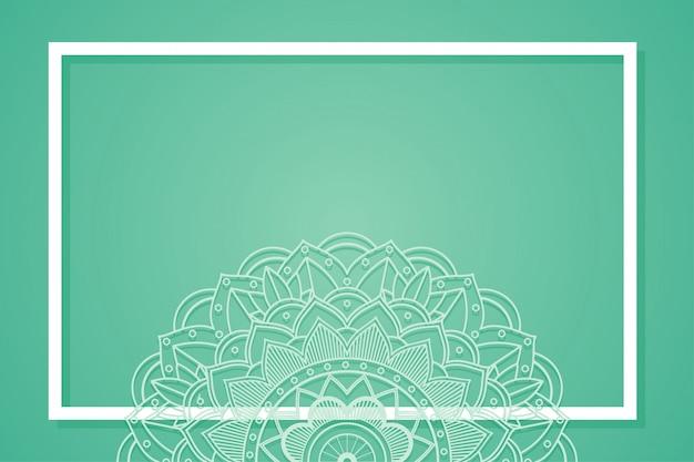 Cornice di sfondo con disegni di mandala