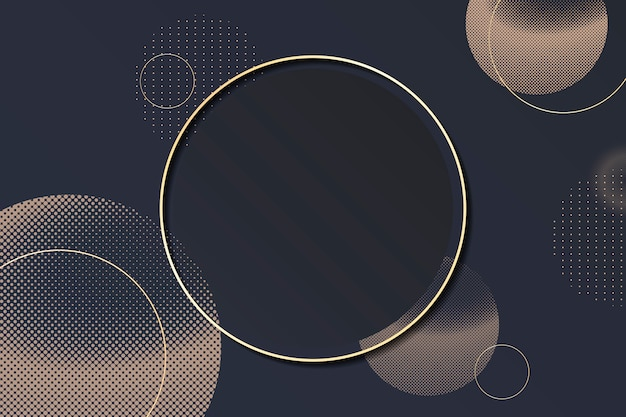 Cornice di sfondo del cerchio di mezzitoni