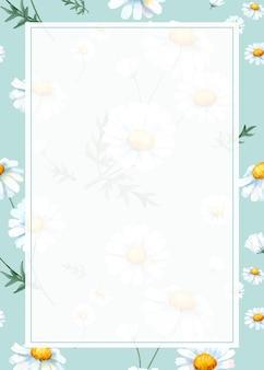 Cornice di sfondo della margherita