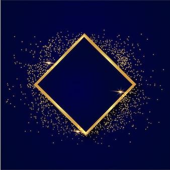 Cornice di sfondo oro lucido