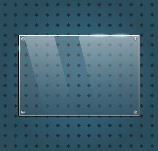 Cornice di vetro vettoriale