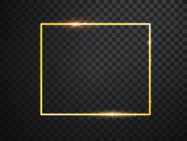Cornice dorata con effetti di luce.
