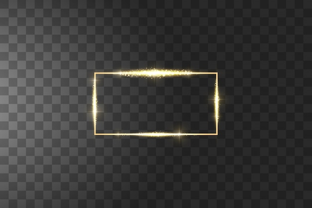 Cornice dorata con effetti di luci. lusso splendente