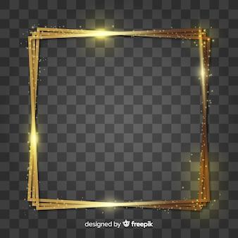 Cornice dorata quadrata realistica