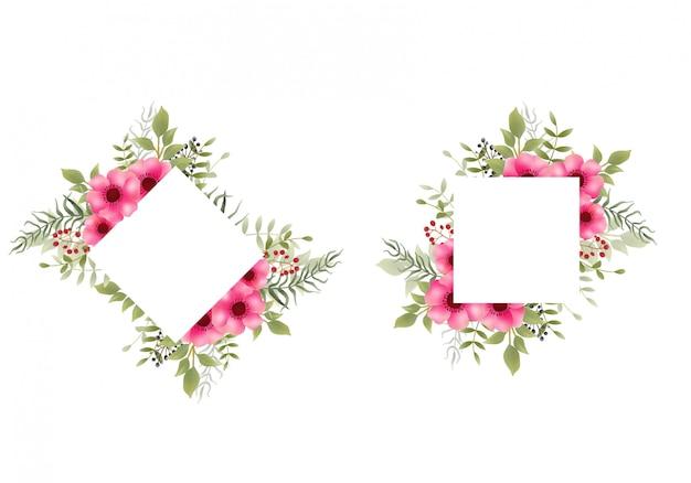 Cornice fiore ad acquerello