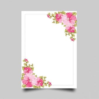 Cornice fiore rosa