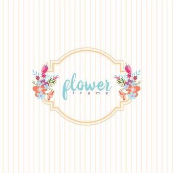 Cornice floreale a colori