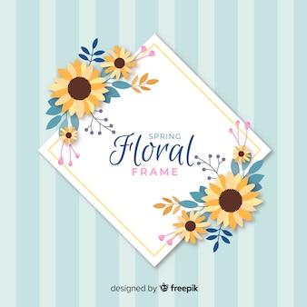 Cornice floreale a molle piatte
