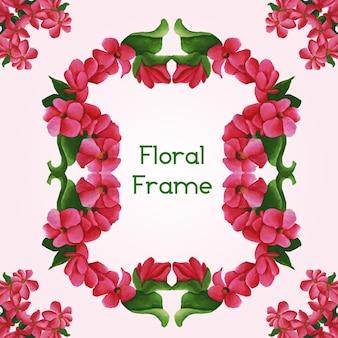 Cornice floreale acquerello