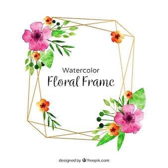 Cornice floreale ad acquerello con uno stile adorabile
