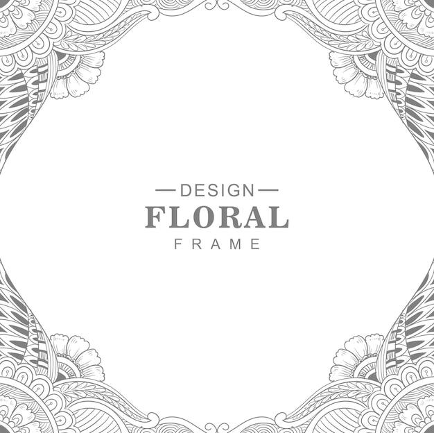 Cornice floreale circolare mandala decorativa