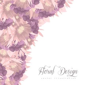 Cornice floreale con fiori colorati