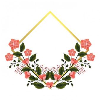Cornice floreale con rose