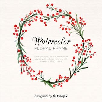 Cornice floreale creativa nel disegno ad acquerello