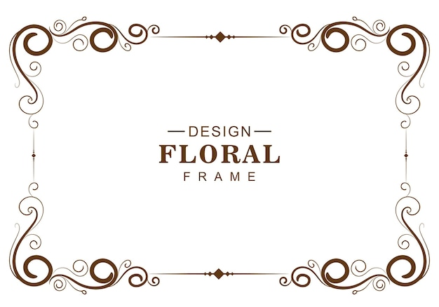 Cornice floreale decorativa ornamentale