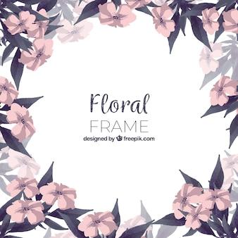Cornice floreale dell'acquerello con stile colorato