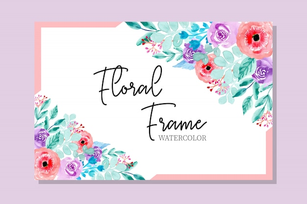 Cornice floreale dell'acquerello dolce