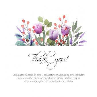 Cornice floreale dell'acquerello