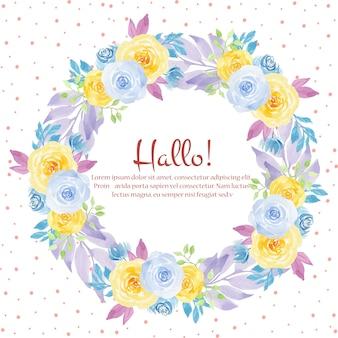 Cornice floreale di nozze dell'acquerello