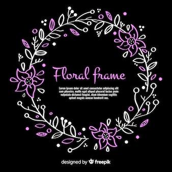 Cornice floreale disegnata a mano bella
