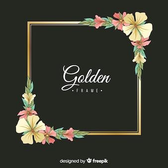 Cornice floreale dorata